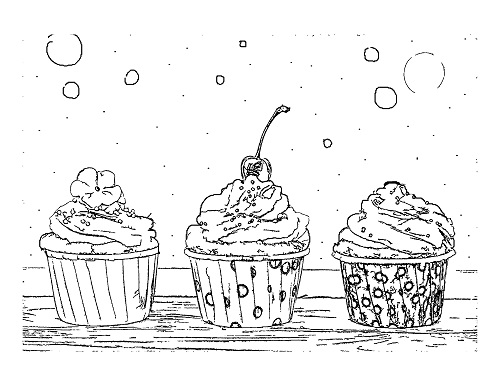 Coloring Sheet_Cheerwine Cupcakes