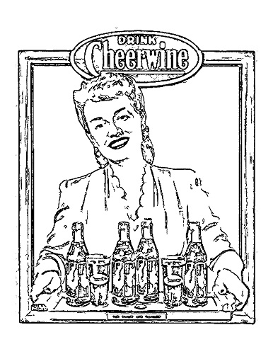 Coloring Sheet_Vintage Ad1