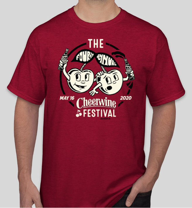 people in cheerwine festival shirts