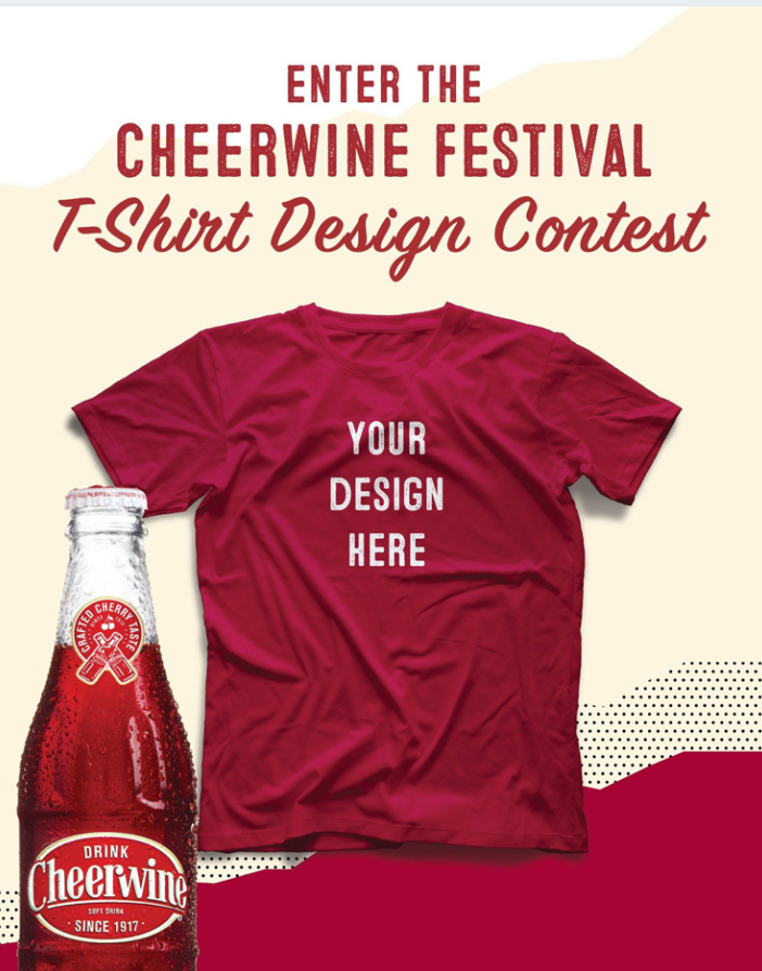 blank shirt and cheerwine bottle