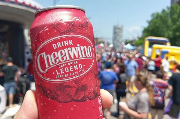 picture from cheerwine festival in 2017 featuring can of Cheerwine