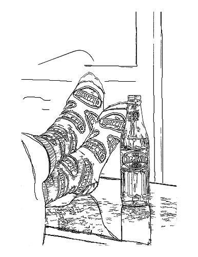 Coloring Sheet_Fun Socks